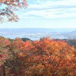 琵琶湖と紅葉