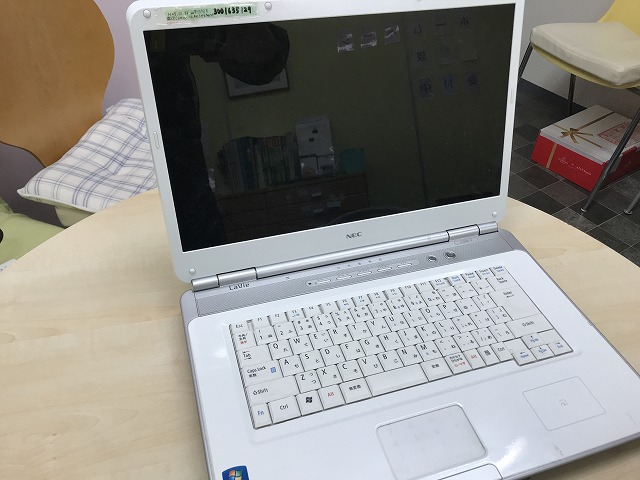NECノートパソコンHDD交換
