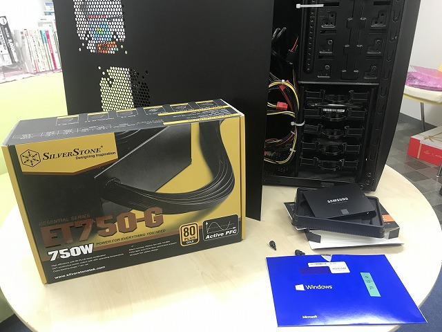 SSD換装及び電源ユニット交換
