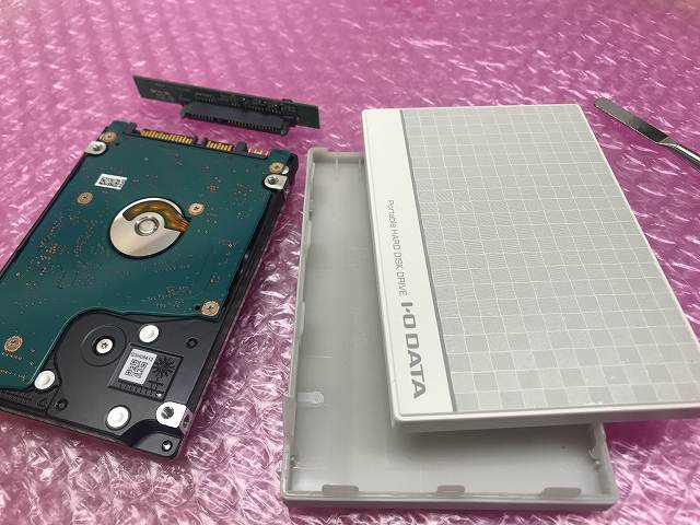 ポータブルHDDを分解
