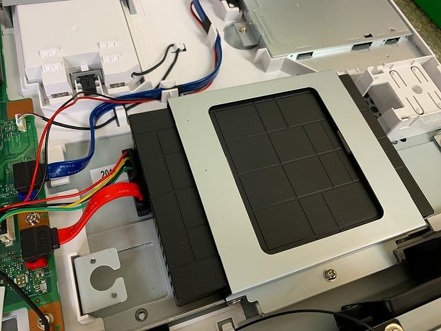 HDDをSSD(500GB)に換装・クローン作業